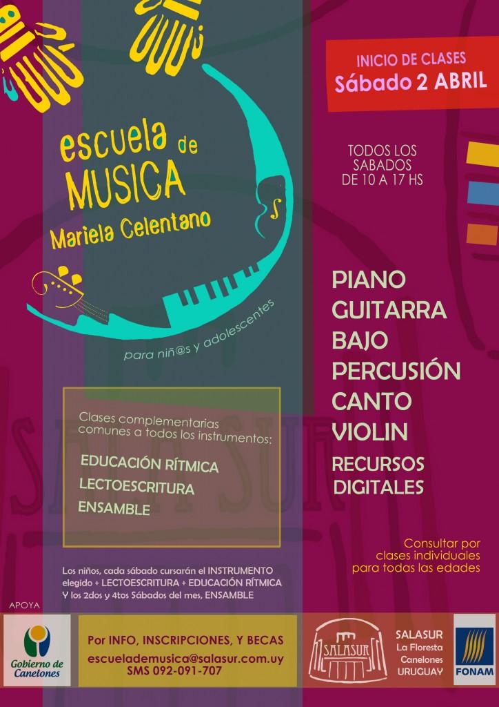 ESC MUSICA. Flyer con inicio clases